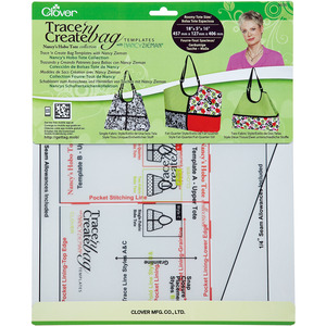 Clover Trace 'n Create Bag Templates With Nancy Zieman Nancy's Hobo Tote Collection