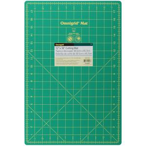 """Dritz 18WG Omnigrid Gridded Rotary Cutter Mat, 12x18"""" Grid, 45º Angles-OMNIGRID MAT 12""""X18"""""""