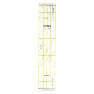 """Dritz RN525 Omnigrip Non Slip Quilters Ruler 5""""x25"""" for Rotary Cutters"""