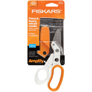 "Fiskars 170620 Amplify 6"" Heavy Duty Craft Scissors Shears Trimmers"