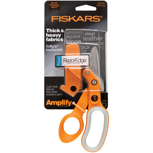 "Fiskars 170610 Amplify 6"" Heavy Duty Razor Edge Fabric Scissor Shear Trimmer"