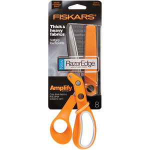 ORANGE, SCISSOR, AMPLIFY, 8, Fiskars, Amplify, Heavy, Duty, Razor, Edge, Fabric, Shear, Trimmer