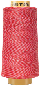 Gutermann Natural Cotton Thread Variegated 3,281 Yards/ 3000m Ruby Red
