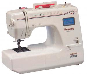 Simplicity SA2400LCD Best Buy American Quilter, Drop In Bobbin Electtronic Sewing Machine, Quilt Feet, 1-Step Buttonhole, Hard Case & ExtensionTable