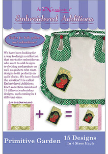 Anita Goodesign 166MAGHD Primitive Garden Embroidered Additions Multi-format Design CD