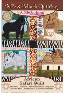 Anita Goodesign 239AGHD African Safari Quilt Full Mix Match Collection CD