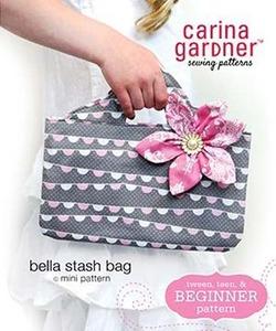 Carina Gardner Bella Stash Bag mini Pattern