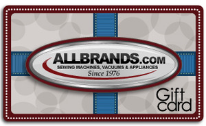 $125 AllBrands.com Electronic Gift Card, Email Certificate Number, Redeemable Onlline for up to 5 Years, on 15,000 Sewing, Vacuum & Appliance Products