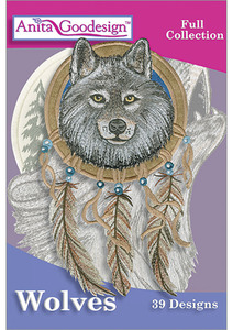 Anita, Goodesign, 240AGHD, Wolves, Full, Collection, 39, Embroidery, Designs, CD
