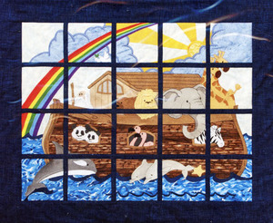 Dakota Collectibles 970555 Noah's Ark Window Pane Wall Hanging 20 Designs Multi-Formatted CD Embroidery Machine Designs
