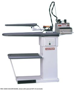 "Hi Steam PND-2500A Heated Vacuum Ironing Board Table 53x16.5"" +Sleeve Arm, Hot Iron Rest, Tray"