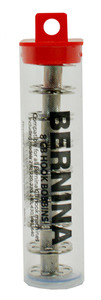 Bernina 7908A CB Class 15 Metal Bobbins, 8Pk Tube for 135-199* 210 220 230 240 430 440 640 Models