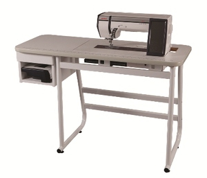 "Janome, 494711004, 494702002, Sewing, Table, for, 1600P, Professional, memory, craft, MC6500P, MC6600, P6300P, 6500P, 6600P, 1600P, 1600PDB, 1600PDBX , Janome Professional 45x19"" Sewing Table Cabinet with Drawer, for 6300P 6500P 6600P 1600P 1600PDB 1600PDBX 1600PQC, Elna 7300, Pfaff Grand, Viking Mega"
