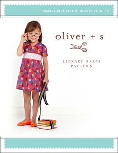 Oliver + S :Library Dress 6m-4
