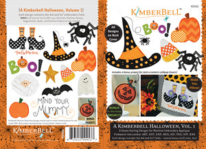 "KimberBell KD502 Halloween Vol1 Applique Embroidery 12 Designs CD for 4x4, 5x7, 6x10"" Hoop Machines"