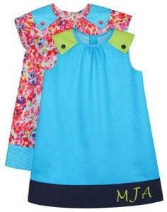 Childrens Corner CC287 Laura Sleeveless, Short Piped Sleeves Dress Sizes 3-6