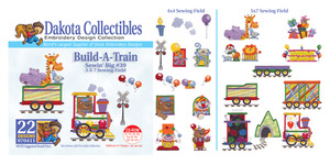 Dakota Collectibles 970411 Build-a-Train Multi-Formatted CD Embroidery Machine Designs