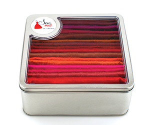 """Sew Red, 16 Piece, Dupioni Silk, Fabric Collection, 18x22"""" Ea, Total 4 Yards"""