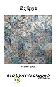 Blue Underground Studios, Eclipse Quilt Design, Sewing Pattern, for Winter Soltice, Silk Collection