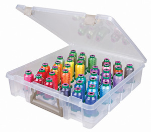 Isacord IS6955IT Artbin Super Satchel Storage Box Only for Storage up to 36x1100Yd Mini King Cone Spool Threads