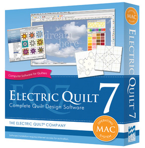 -ELECTRIC QUILT 7, Electric Quilt EQ7MAC Macintosh, Complete Design Software Blocks Photos
