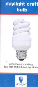 Daylight U12617 11W, 65W Equivalent True Color Natural Spectrum Simulation Spiral Screw In Light Bulb, 75% Less Energy