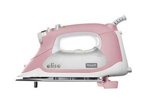 Oliso, TG-1100, SATG1100PINK, Smart Iron, PINK, Breast Cancer Research Foundation, WHITE/GREY-OLISO SMART IRON 18, Oliso TG-1100 Continuous Steam Burst  iTouch Smart Iron Has Legs! GREY