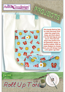 Anita Goodesign PROJ65 Roll Up Tote Multi-format Embroidery Design CD
