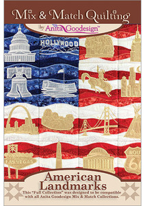 Anita Goodesign 248AGHD American Landmarks Multi-format Embroidery Design CD