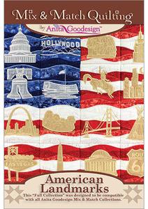 Anita Goodesign 248AGHD American Landmarks Multi-format Embroidery Design CD