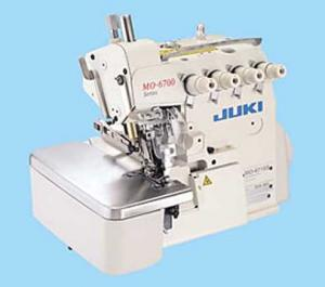 Juki MO-6704 S-OE4-40H 3-Thread Industrial Overlock Serger,  4mm Stitch Width, 4 to 1 Differential Feed Ratio, Submerged Power Stand Set Up, 7000SPM