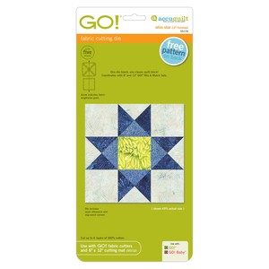 "AccuQuilt, 55174, Ohio, Star, Fabric, Cutting, Die, 12"", Finished, Use, 6x12"", Mat, 55112"