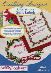 Anita Goodesign 175MAGHD Christmas Quilt Labels Mini Embroidery Designs CD