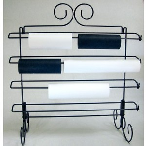 """STABRACKLG/RACKLG0002 Embroidery Stabilizer Wire Metal Display Rack Stand, Large 26x28.5"""" for up to 2 Rolls Each on 4 Rungs, Free Standing, Wall Mount"""