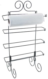 "Hammer Brothers, STABRACKSM, Stabilizer, Wire Rack Stand, Small 16x27"" Holds up to 2 Rolls, x 4 Rungs, Free Standing ,or Wall Mount"