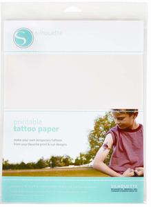 Silhouette Cameo MEDIATATTOO Temporary Tattoo Paper, Two sheets temporary tattoo paper and adhesive sheets.