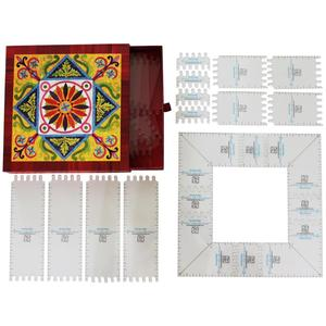 "Karen K Buckley KKB39 4"" to 24.5"" Adjustable Square Quilting Ruler"