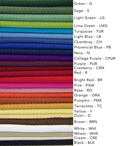"Dunroven 5330- Waffle Weave Solid Color Towels, Embroidery Blanks 20x28"" Choose Any 6 Total of 26 Colors:"
