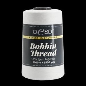 OESD Expert Embroidery Bobbin Thread - White 100% Spun Polyester 5000m / 5500 yds
