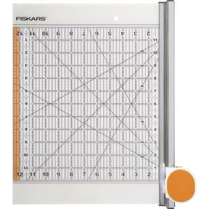 "Fiskars 095036 12x12"" Ruler Cutting Mat +45mm Rotary Fabric Cutter Combo -ROTARY RULER COMBO"