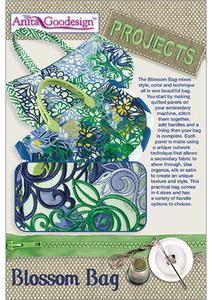 Anita Goodesign PROJ69 Blossom Bag Multiformat Embroidery Design CD