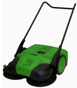 "Bissell  BG497 38"" Wide Deluxe Triple Brush Push Power Outdoor Sweeper, 13.2 Gallons, 43 Pounds"