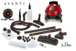 Avanti La Dea Pure Italian Vapor Steam Cleaner 335° F, 6.5 Bar, 96 PSI
