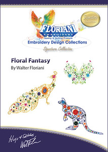Floriani Signature Series, S-9688 Floral Fantasy Embroidery Designs By Walter Floriani, 5X7 Designs