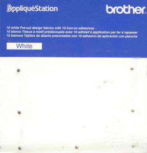 Brother Precut Fabric & Adhesive Backing TAC2001 - 10  White Sheets for E-100 Applique Station