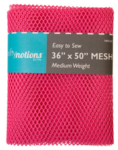 "Nifty Notions Mesh Fabric  Medium Weight, Bright Pink 36"" x 50"""