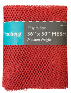 "Nifty Notions Mesh Fabric Medium Weight, Red 36"" x 50"""