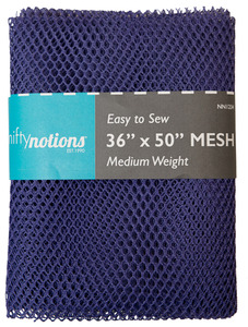 "Nifty Notions Mesh Fabric Medium Weight, Purple 36"" x 50"""