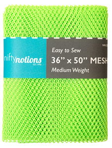 "Nifty Notions Mesh Fabric Medium Weight, Lime Green 36"" x 50"""