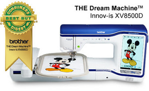 "Brother, XD8500, baby lock destiny, bldy, Demo, Sewing, Quilting, 9.5x14, Embroidery, Machine, 10""LCD 2xFaster, DropLight +Roller Bag, PED Next, 8x8""Hoop , Brother XV8500D Demo InnovEye Chrome Dream Embroidery Quilting Sewing Machine,"